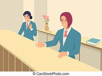 前部, 女性, オフィス, ユニフォーム
