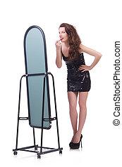 前部, 女, 鏡