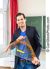 前部, 学校, 三角形, クラス, 教師