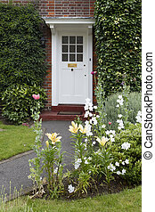 前部, 家, ドア, 英語