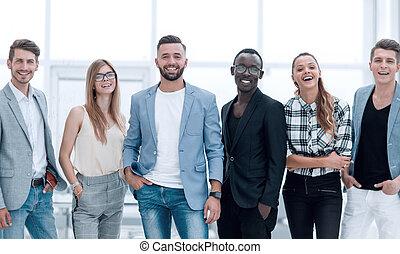 前部, 白, グループ, 背景の 人々