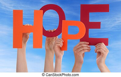 前部, 空, 希望, 手を持つ