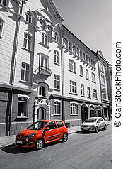 前部, 自動車, ホテル, 赤
