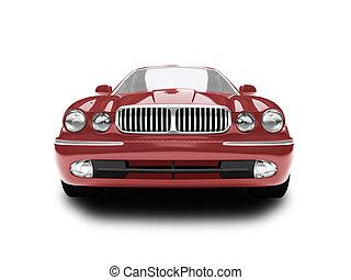 前部, 自動車, 隔離された, 赤, 光景
