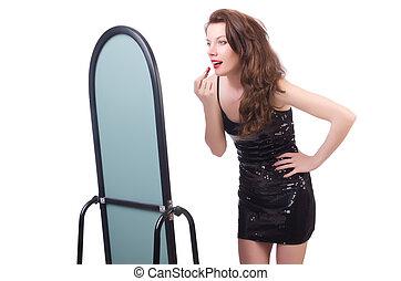 前部, 鏡, 女