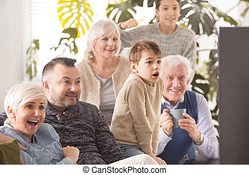 前部, tv, 家族