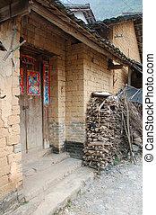 前門, ......的, a, 房子, 在, 瓷器