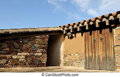 前院, 在中, a, 传统, 房子, 在中, 塞浦路斯