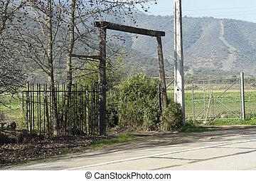 前面入口, ......的, 農場