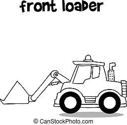 前面, 平局, 手, 彙整, loader