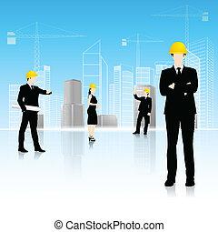 前面, 建築物, 建築師