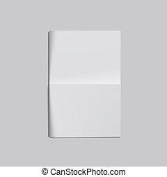 前面, 白頁, 空, 摺疊報紙, 空白
