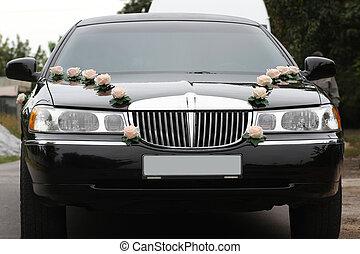 前面, 装饰, 轿车, 婚礼