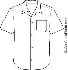 前面, 襯衫, 矢量