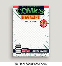 前面, 設計, 雜志, 頁, 樣板, 書, 喜劇演員