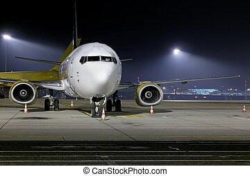 前面, 飛機, 特寫鏡頭