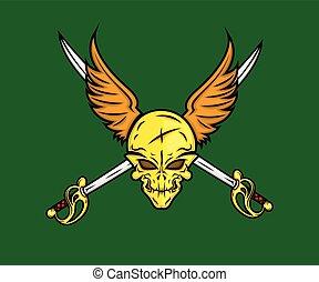 剣, 翼, 頭骨