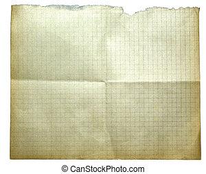 剪下的资料, 老, 正文, 隔离, 你, 纸, 设计, white., 黄色, path., 或者