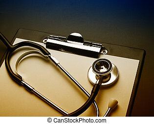 剪貼板, 由于, 聽診器