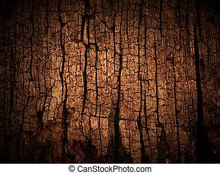 割れた, 木, 古い, 手ざわり