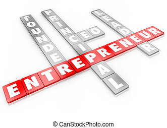 創設者, ビジネス, リーダー, ceo, タイル, 手紙, 企業家, 単語