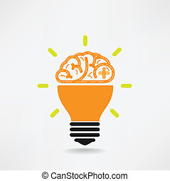 創造性, ビジネス, 知識, 脳, 創造的, アイコン, 印, シンボル, 教育