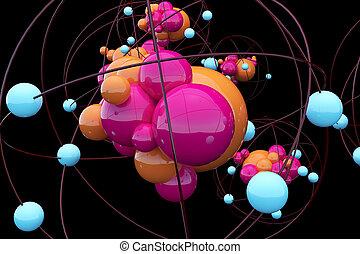 創造性, 原子, 背景