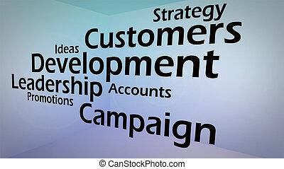 創造性, 圖像, ......的, 商業發展, 概念