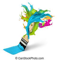 創造性, 畫, 以及, 裝飾, 概念