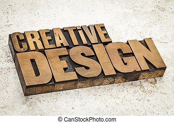 創造性, 設計, 在, 木頭, 類型