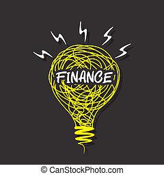 創造性, 財政, 燈泡, 詞
