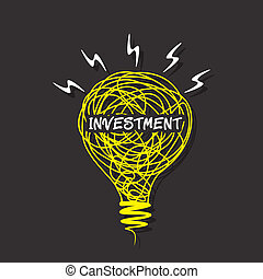 創造性, 靈感, 詞, 上, 燈泡