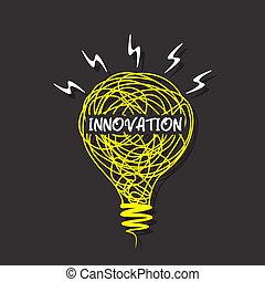 創造性, 革新, 燈泡, 詞