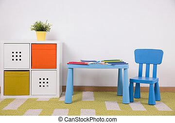創造的, スペース, 活動, 子供
