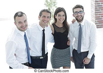 創造的, チーム, 若い, ビジネス