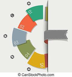 創造的, デザイン, テンプレート, infographics
