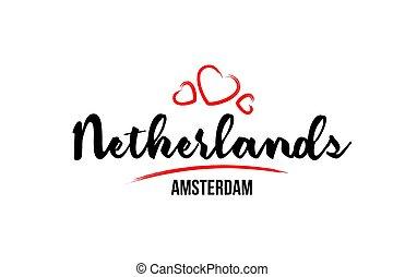 創造的, 心, 国, 赤, ∥そ∥, デザイン, netherlands, アムステルダム, 活版印刷, ロゴ, 愛, 資本