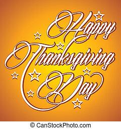 創造的, 感謝祭, 日, 幸せ