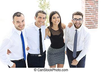 創造的, 若い, ビジネス, チーム