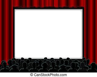 劇場, フレーム, デザイン