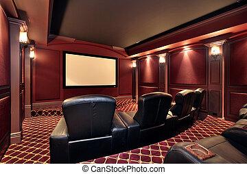 劇場, 中に, ぜいたくな家