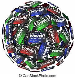 力量, 信用, 錢, 貸款, 借用, 球, 詞, 卡片, 債務, 購買