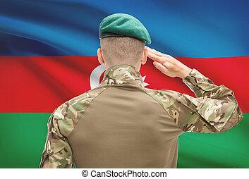 力, シリーズ, 国民, -, アゼルバイジャン, 旗, 背景, 概念, 軍