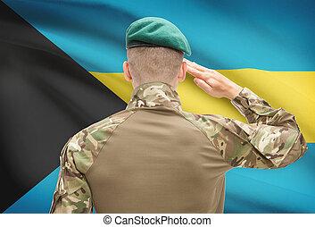 力, シリーズ, 国民, -, バハマの旗, 背景, 概念, 軍