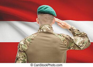 力, シリーズ, 国民, -, 旗, オーストリア, 背景, 概念, 軍