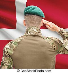 力, シリーズ, 国民, -, 旗, 背景, デンマーク, 概念, 軍