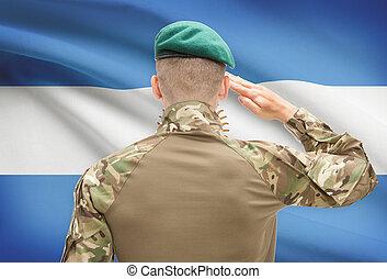 力, シリーズ, 国民, -, 旗, 背景, 概念, 軍, アルゼンチン