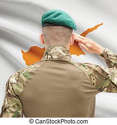 力, シリーズ, 国民, -, 旗, 背景, 概念, 軍, キプロス