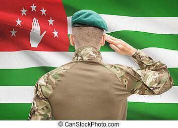 力, シリーズ, 国民, -, 旗, 背景, 概念, 軍, abkhazia