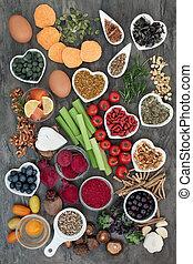 力, 健康な 食事療法, 脳, 食物, 倍力